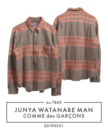 JUNYA WATANABE MAN COMME des GARCONS / Check Border Shirt / 7860 - 0531 69.5