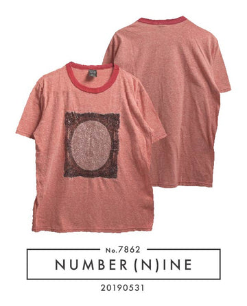 NUMBERNINE / Mirror Ringer T-shirt / 7862 - 0531 47.5