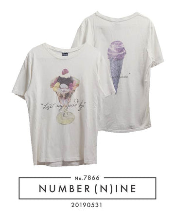 NUMBERNINE / × Eyescream Dessert T-shirt / 7866 - 0531 66.2