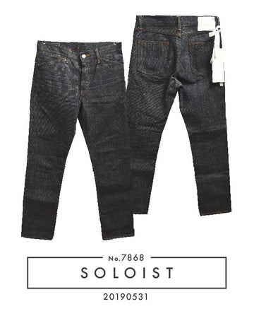 SOLOIST / Raw Denim Pants / 7868 - 0531 69.5
