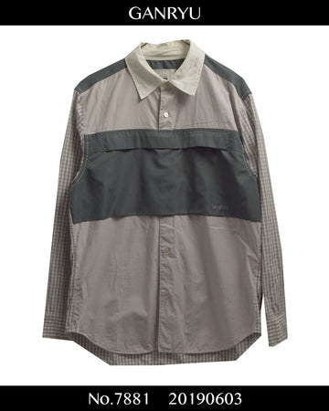 GANRYU / Front Pocket Shirt / 7881 - 0603 69.5