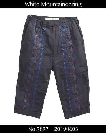 White Mountaineering / Native Easy Cropped Pants / 7897 - 0603 43.1