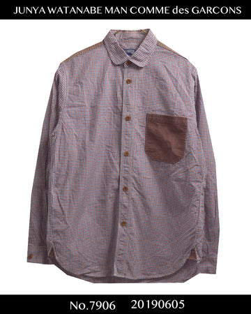 JUNYA WATANABE MAN COMME des GARCONS / Pathcwork Pocket Check Shirt / 7906 - 0605 84.9