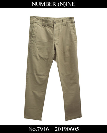 NUMBERNINE / Chino Slacks Pants / 7916 - 0605 51.35