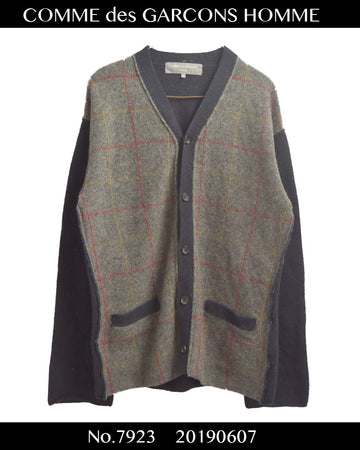 COMME des GARCONS HOMME / Wool Check Cardigan / 7923 - 0607 64