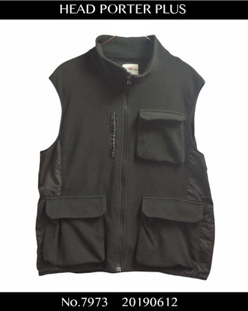 Head Porter Plus / Fleece Military Vest / 7973 - 0612 43.32