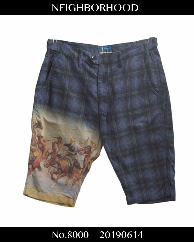 NEIGHBORHOOD / Western Print Check Short Pants / 8000 - 0614 157.5