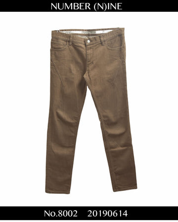 NUMBERNINE / Brown Denim Pants / 8002 - 0614 51.9