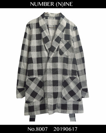NUMBERNINE / Monotone Check Gown / 8007 - 0617 102.5