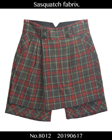 Sasquatch fabrix. / Layered Check Skirt & Short Pants / 8012 - 0617 53