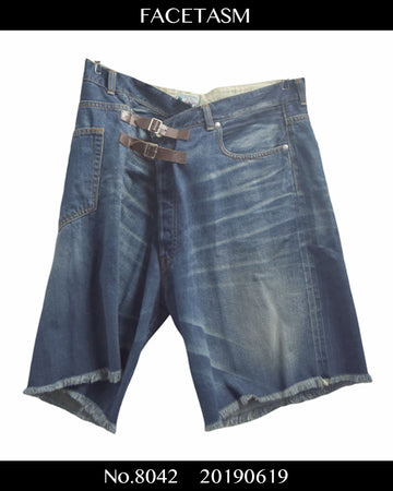 FACETASM / Wrap Denim Short Pants / 8042 - 0619 94.8