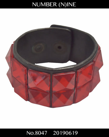 NUMBERNINE / Acrylic Studs Wristband / 8047 - 0619 56.3