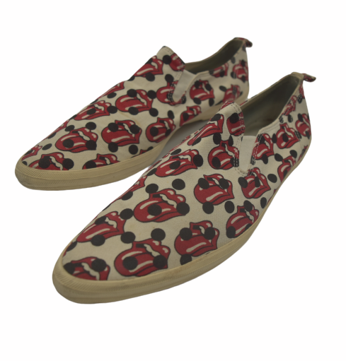 COMME des GARCONS HOMME PLUS / × The Rolling Stones Lips × Tongue Slip-on Sneaker / 8050 - 0619 104.7