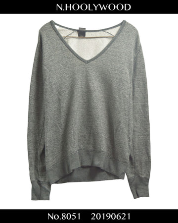 N.hoolywood / V-neck Sweat Shirt / 8051 - 0621 37.6
