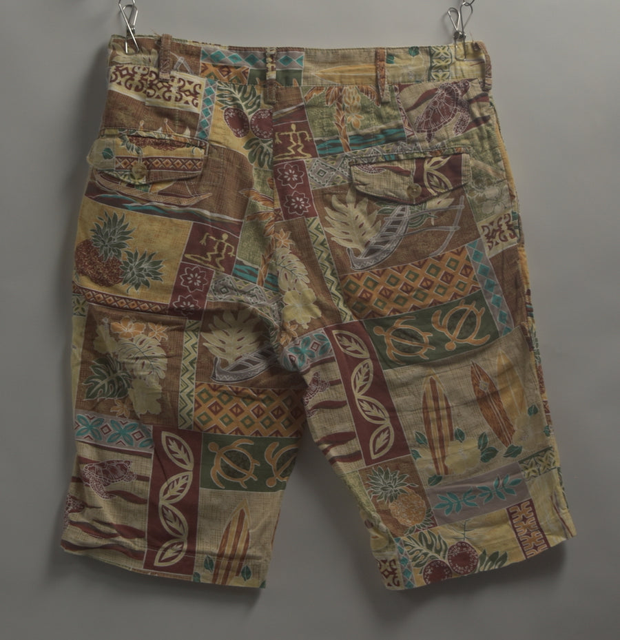 Engineered Garments / Flower Collage Short Pants / 8065 - 0621 78.3