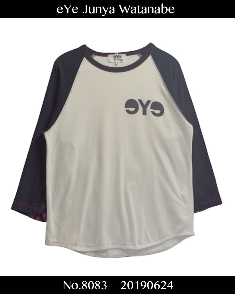 eYe JUNYA WATANABE MAN COMME des GARCONS / eYe Logo Raglan Shirt / 8083 - 0624 69.5