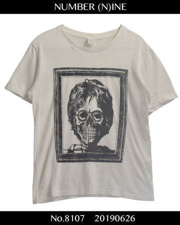 NUMBERNINE / John Lennon Skull Shirt / 8107 - 0626 58.5