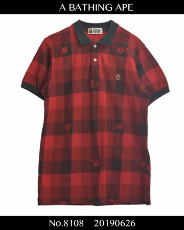 BAPE / BAPE Buffalo Check Polo Shirt / 8108 - 0626 57.18