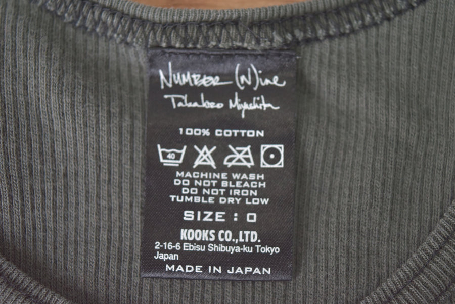 NUMBERNINE / Long Tank top Shirt / 8112 - 0626 33.42