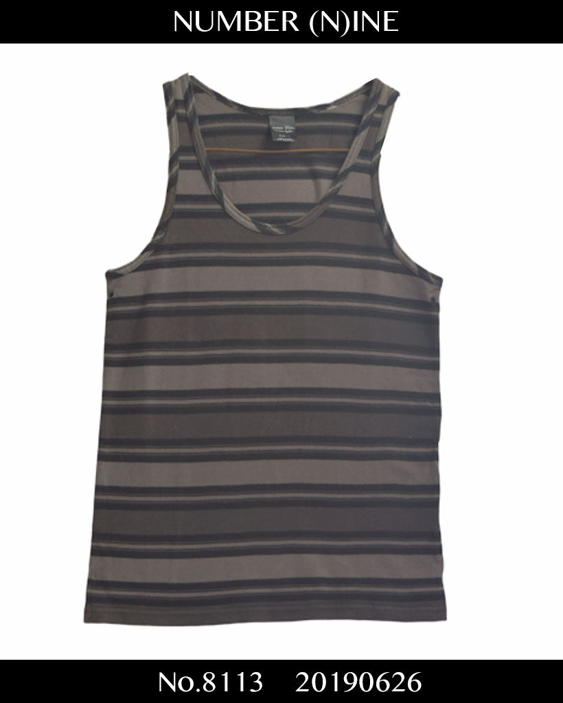 NUMBERNINE / Border Tank top Shirt / 8113 - 0626 38.26