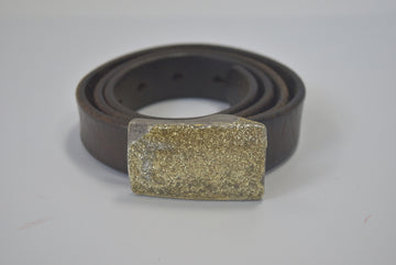 COMME des GARCONS HOMME / Gold Metaric Leather Belt / 8194 - 0703 53