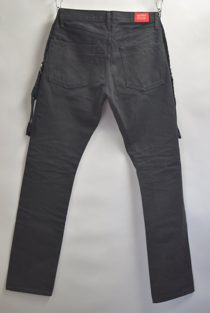 UNDERCOVER / Belt Fringe Denim Pants / 8232 - 0708 91.5