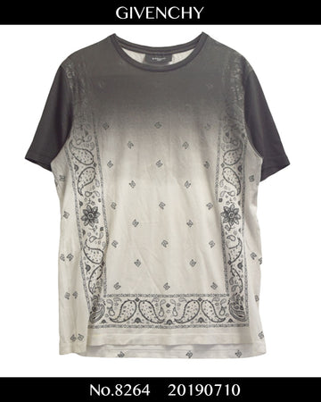 GIVENCHY / Uneven Dyeing Paisley Shirt / 8264 - 0710 119