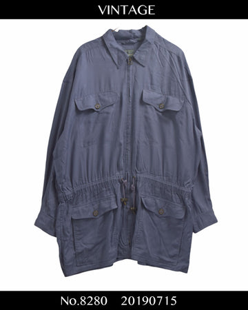 vintage / Military Zipup Shirt / 8280 - 0715 42