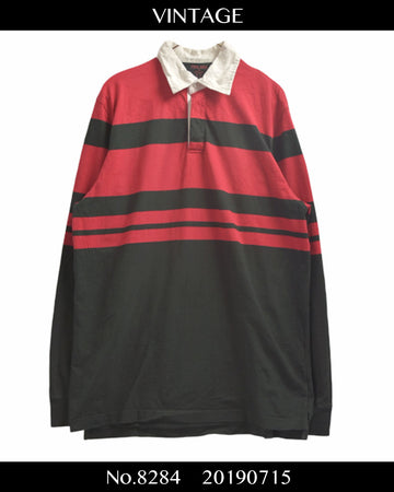 vintage / Border Polo Shirt / 8284 - 0715 36.5