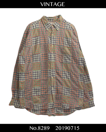 J.CREW / Patchwork Check Shirt / 8289 - 0715 47.5