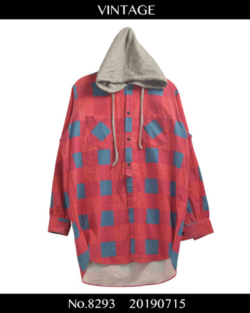 Vote Make New Clothes / Oversize Hooded Check Shirt / 8293 - 0715 53