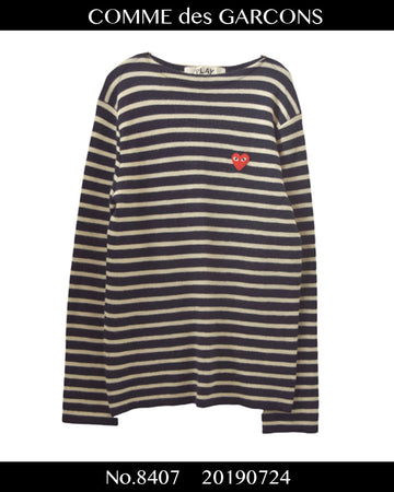 PLAY COMME des GARCONS / Heart Logo Sweater / 8407 - 0724 91.5