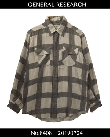 GENERAL RESEARCH / Check Shirt / 8408 - 0724 50.8