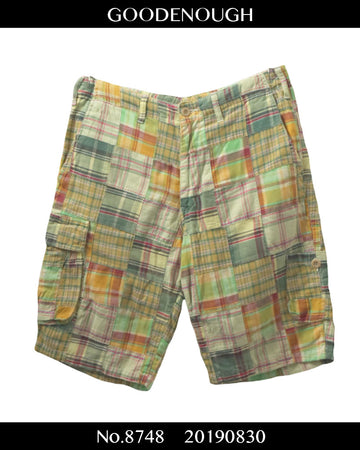 GOOD ENOUGH / Patchwork Short Pants / 8748 - 0830 47.5