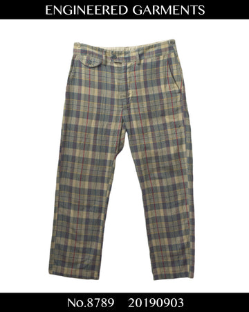 Engineered Garments / Madras Check Pants / 8789 - 0903 64