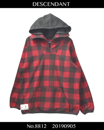 DESCENDANT / Layred Check Sweat Hoodie / 8812 - 0905 102.5
