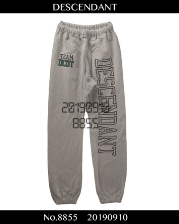 DESCENDANT / Logo Sweat Pants / 8855 - 0910 80.5