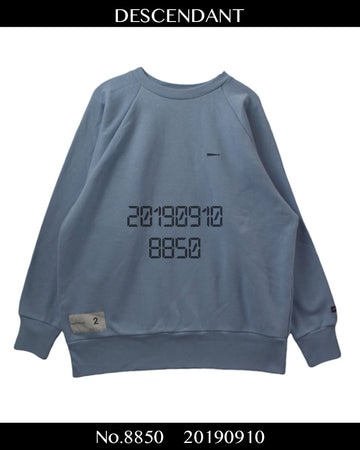 DESCENDANT / Logo Sweat Shirt / 8862 - 0910 75