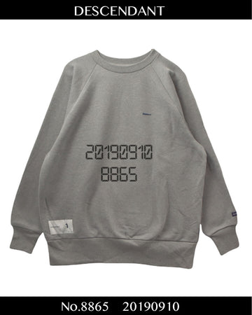 DESCENDANT / Logo Sweat Shirt / 8865 - 0910 75