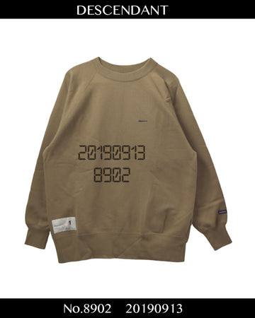 DESCENDANT / Logo Sweat Shirt / 8902 - 0913 64