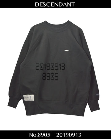 DESCENDANT / Logo Sweat Shirt / 8905 - 0913 75