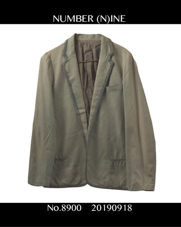 NUMBERNINE / Piping Tailored Jacket / 8996 - 0918 67.08 / JP ARCHIVES