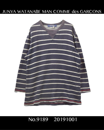 JUNYA WATANABE MAN / Border Sweat Shirt / 9189 - 1001 64