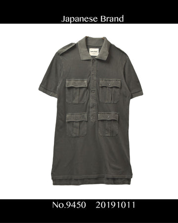 KAPITAL / Military Polo Shirt / 9450 - 1011 34.3