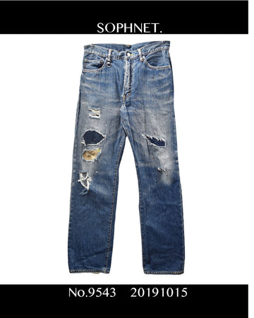 SOPHNET. / Damaged Jeans / 9543 - 1015 71.7