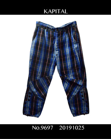 KAPITAL / Check Cropped Pants / 9697 - 1025 78.74