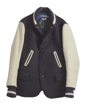 JUNYA WATANABE MAN COMME des GARCONS / Navy Tailored Varisity Jacket