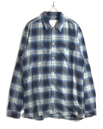 UNDERCOVER / Blue Ombre Shadow Check Shirt