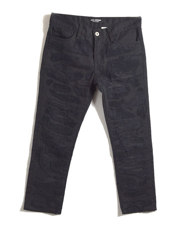JUNYA WATANABE MAN COMME des GARCONS / Black Dameged Denim Pants