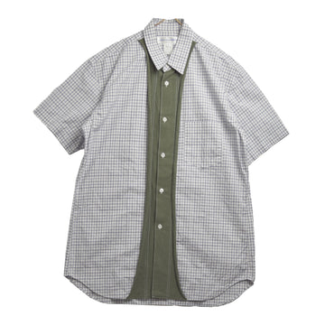 COMME des GARCONS SHIRT / Hybrid Knit Check Shirt